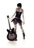 Meisje met een gitaar Royalty-vrije Stock Foto