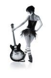 Meisje met een gitaar Stock Foto's