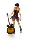 Meisje met een gitaar Royalty-vrije Stock Fotografie
