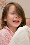 Meisje met een handdoek Royalty-vrije Stock Fotografie