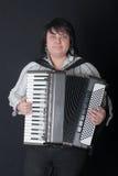 Meisje met een harmonika royalty-vrije stock foto's