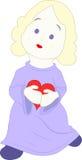 Meisje met een hart Stock Afbeelding