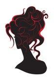 Meisje met een hoog kapsel Royalty-vrije Stock Afbeelding
