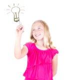 Meisje met een idee royalty-vrije stock foto