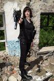 Meisje met een kanon Royalty-vrije Stock Foto