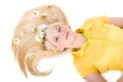 Meisje met een kapsel Stock Foto's