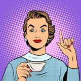 Meisje met een Kop thee of een koffie vector illustratie