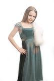 Meisje met een kroon stock afbeelding