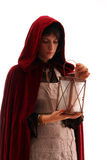 Meisje met een lantaarn Royalty-vrije Stock Fotografie