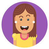 Meisje met een mooie glimlach Stock Afbeelding