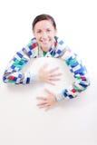 Meisje met een paneel Royalty-vrije Stock Afbeeldingen