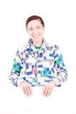 Meisje met een paneel Royalty-vrije Stock Foto's