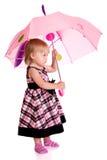 Meisje met een paraplu Royalty-vrije Stock Foto