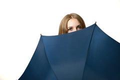 Meisje met een paraplu Stock Foto