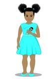 Meisje met een pop Stock Foto