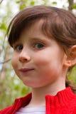 Meisje met een rond gezicht Stock Afbeelding