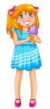 Meisje met een roomijs Stock Fotografie