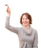Meisje met een sleutel. stock fotografie
