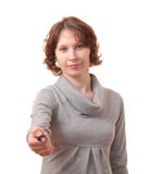 Meisje met een sleutel. royalty-vrije stock foto's