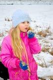 Meisje met een stambies Royalty-vrije Stock Foto's