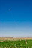 Meisje met een vlieger Royalty-vrije Stock Fotografie