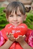 Meisje met een zacht hart Royalty-vrije Stock Foto's