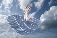 Meisje met energie Stock Fotografie