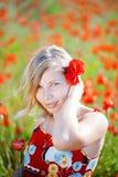 Meisje met fllower Stock Afbeelding