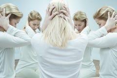Meisje met geestelijk probleem Royalty-vrije Stock Afbeeldingen