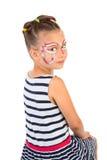Meisje met gezicht het schilderen royalty-vrije stock fotografie