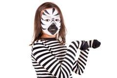 Meisje met gezicht-verf Stock Afbeelding