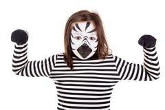 Meisje met gezicht-verf Royalty-vrije Stock Afbeelding