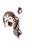 Meisje met gezicht-verf Royalty-vrije Stock Fotografie