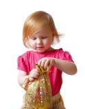 Meisje met gift Royalty-vrije Stock Foto's