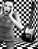 Meisje met gitaar Royalty-vrije Stock Fotografie