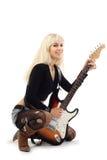 Meisje met gitaar Royalty-vrije Stock Afbeeldingen