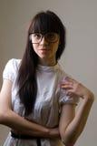Meisje met glazen Royalty-vrije Stock Foto's