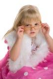 Meisje met glazen Royalty-vrije Stock Afbeelding