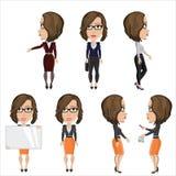 Meisje met glazen op het werk Stock Afbeelding