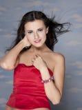 Meisje met golvend haar Royalty-vrije Stock Foto