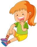 Meisje met grote glimlach vector illustratie