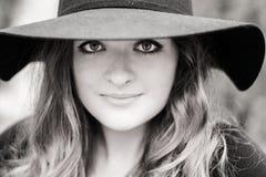 Meisje met grote ogen Stock Fotografie