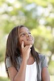Meisje met hand op gezicht Royalty-vrije Stock Foto