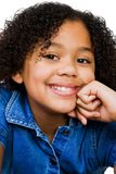 Meisje met Hand op Kin Stock Fotografie