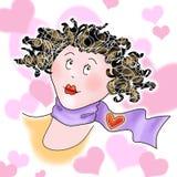 Meisje met harten Stock Fotografie