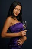 Meisje met het glas Royalty-vrije Stock Foto's