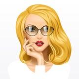 Meisje met het Haar van de Blonde Royalty-vrije Stock Foto's