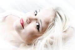 Meisje met het Haar van de Blonde royalty-vrije stock afbeeldingen