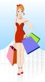 Meisje met het winkelen Royalty-vrije Stock Foto's