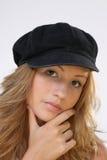 Meisje met hoed Stock Afbeelding